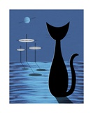 Space Cat in Blue Photographic Print by Donna Mibus
