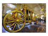 Gold State Coach in the Royal Mews, Buckingham Palace, London, South of England Giclee-tryk i høj kvalitet