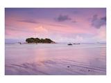 The beach of Anse Volbert, Praslin Island, Seychelles Giclee-tryk i høj kvalitet