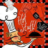 Red Hot Stuff Chef Prints by Rebecca Lyon