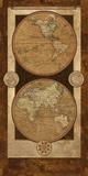 Vintage Brown Map I Poster av Elizabeth Medley