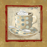 Golden Coffee II Print by Elizabeth Medley