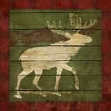 Plaid Moose Border Posters