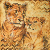 Safari Mother and Son II Art by Patricia Quintero-Pinto