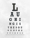 Eye Chart Typography II Prints