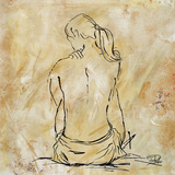 Nude Sketch on Beige II Poster by Patricia Pinto