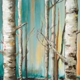 Birch Forest II Poster von Patricia Quintero-Pinto