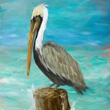 Pelicans on Post I Plakater af Julie DeRice
