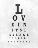 Eye Chart Typography I Poster