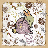 Whimsical Woodland III (rabbit) Prints by Rebecca Lyon