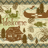 Welcome Lodge I Posters by Rebecca Lyon