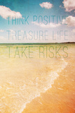 Think Positive Print by Susan Bryant