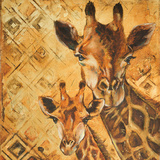 Safari Mother and Son I Posters by Patricia Quintero-Pinto