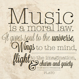 Music is a Moral Law Poster
