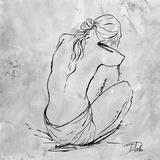 Nude Sketch I Prints by Patricia Quintero-Pinto