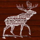 Moose Text Prints
