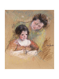 Reine Leaning over Margot's Shoulder Posters by Mary Cassatt