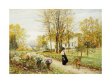 Promenade on an Autumn Day Giclee Print by Marie Francois		 Firmin-Girard