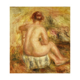 Seated Female Nude, View from behind Prints by Pierre-Auguste		 Renoir