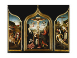 A Triptych: Christ on the Cross with the Virgin, the Lamentation, the Agony in the Garden Giclee Print by Jacob Cornelisz Oostsanen