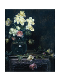 Roses in a Glass Vase Giclee Print by Charles Courtney Curran