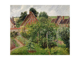 Rain, afternoon, Eragny Art by Camille Pissarro