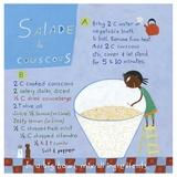 Couscous Salad Posters by Céline Malépart