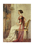 Seated Woman Giclee Print by Farge John