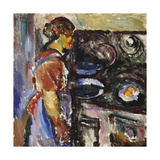 Girl in the Kitchen Giclee Print by Ludvig		 Karsten