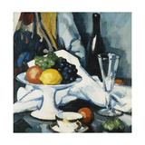 Fruit and Wine Giclee Print by Samuel John Peploe