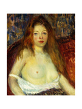 A Red-Haired Model Giclee Print by William James		 Glackens