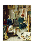 The Artist's Studio Giclee Print by Pompeo		 Massani
