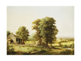 Summer Farm Scene Poster by George Henry		 Durrie