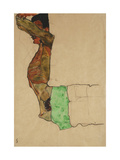 Reclining Male Nude with Green Cloth (Self-Portrait) Prints by Egon Schiele