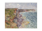 Sailboats near the Cliffs, Yport Giclee Print by Gustave		 Loiseau