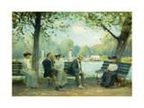 In the Public Gardens, Boston Giclee Print by Arthur Clifton		 Goodwin