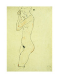Standing Nude Giclee Print by Egon Schiele