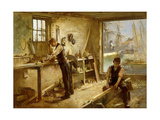The Shipwright's Workshop Giclee Print by Albert Chevallier		 Tayler