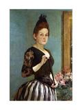 An Elegant Lady Giclee Print by Leroy-Saint-Aubert Charles