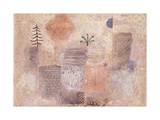 Park with the cool Crescent Giclée-tryk af Paul Klee
