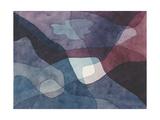 Mountain and Synthetic Air Giclee-trykk av Paul Klee