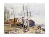 The Mills of Moret, with Rising Sun Giclee Print by Alfred		 Sisley