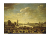 A View of Paris from the Pointe de la Cite Giclee Print by (attributed to) Theodor Matham