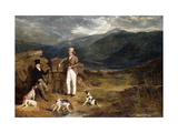 Two Gentlemen with Pointers on a Grouse Moor Poster by John Frederick Herring I