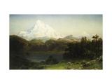 Mount Hood in Oregon Reproduction giclée Premium par Albert Bierstadt
