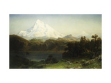 Mount Hood in Oregon Premium Giclee Print by Albert Bierstadt