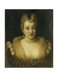Portrait of a Lady Said to be of the Contarini Family Giclee Print by Francesco		 Montemezzano