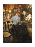 The Cafe Giclee Print by Alfred Henry		 Maurer