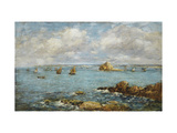 Bay of Douarnenez Prints by Eugene		 Boudin