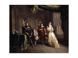 King Charles Taking Leave of his Children Premium Giclee Print by Jean		 Raoux